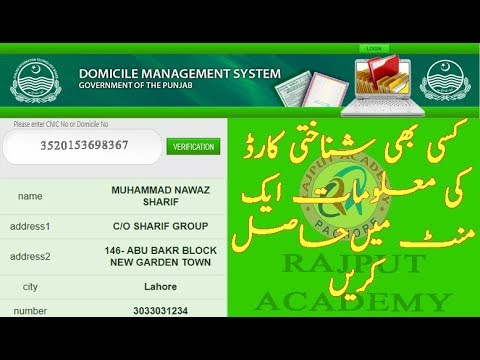 How To Cheak Domicile Verification Online In Pakistan Youtube