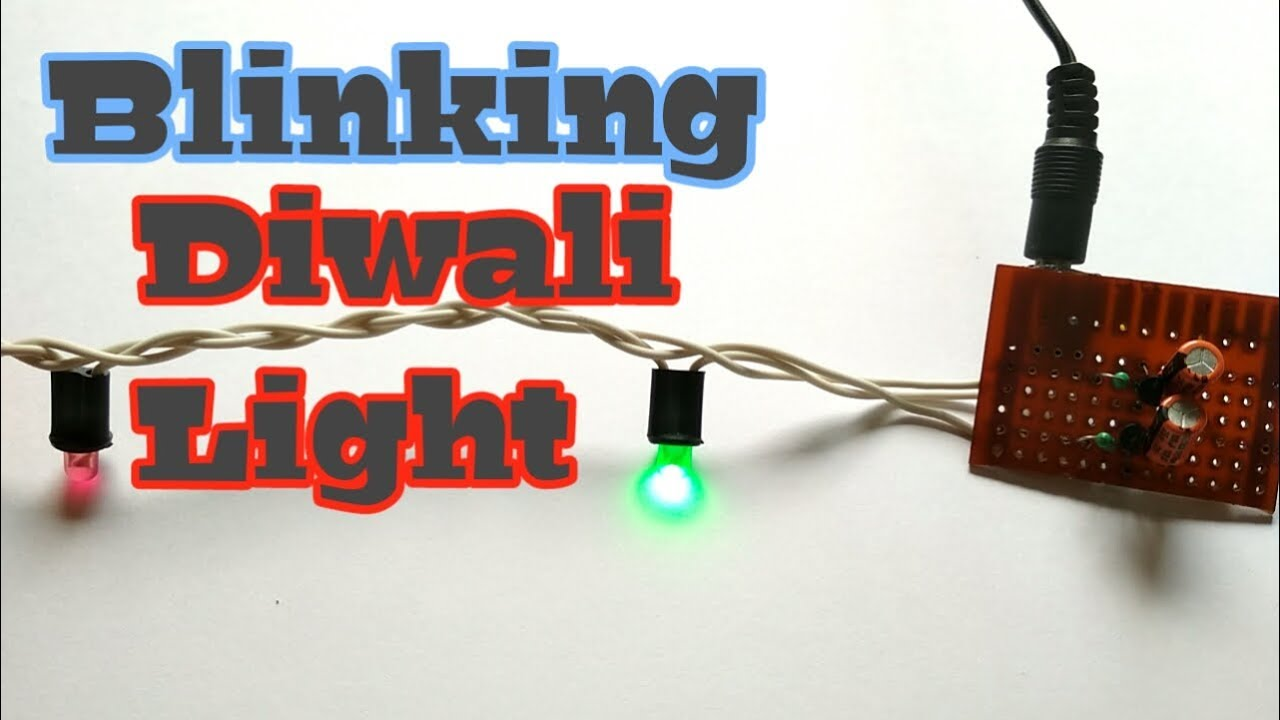 How To Make Diwali Light With Blinking Effect Dual Led Flasher Simple Running Chaser Circuit Using 3 Transistors