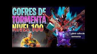 🔴 GIVING WEAPONS 130 IN COFRES of the TORMENT PODER 100!! Fortnite Save the World!!
