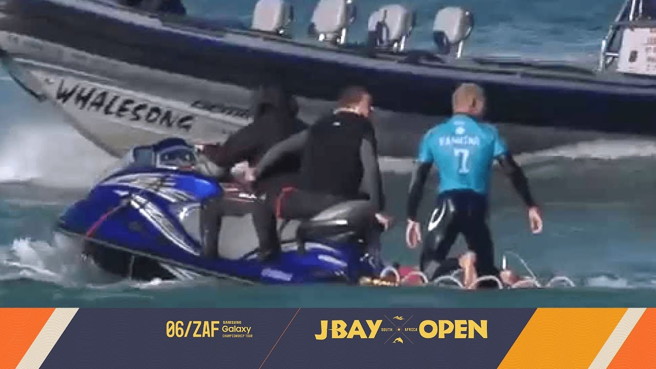 Shark Attacks Mick Fanning at J-Bay Open