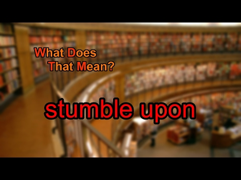 what does stumble mean