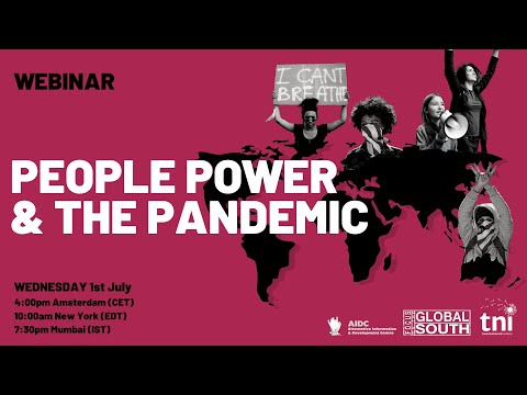 Webinar recording: People Power and the Pandemic