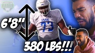 The *BIGGEST* High School Football Player Ever!!!- Evan Neal Highlights [Reaction]   Sharpe Sports