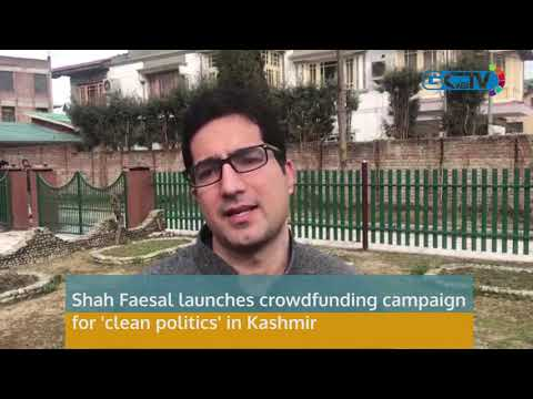 Shah Faesal launches crowdfunding campaign for 'clean politics' in Kashmir