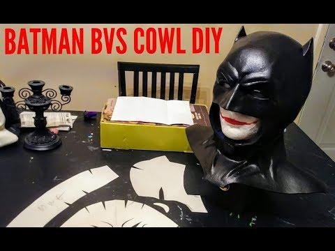 DIY Batman Cowl build BVS inspired cosplay