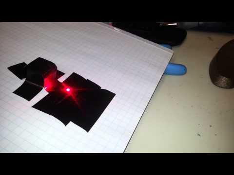 Laser Diode burning electrical tape