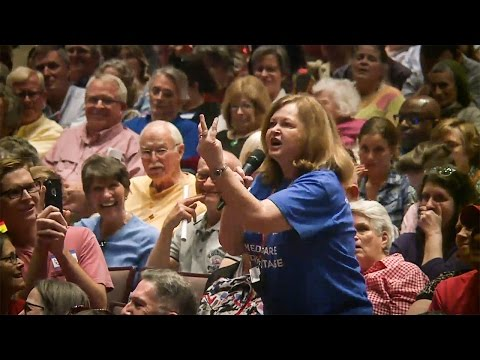 Woman With Dying Husband Unloads On Tom Cotton At Town Hall Meeting - The Ring Of Fire