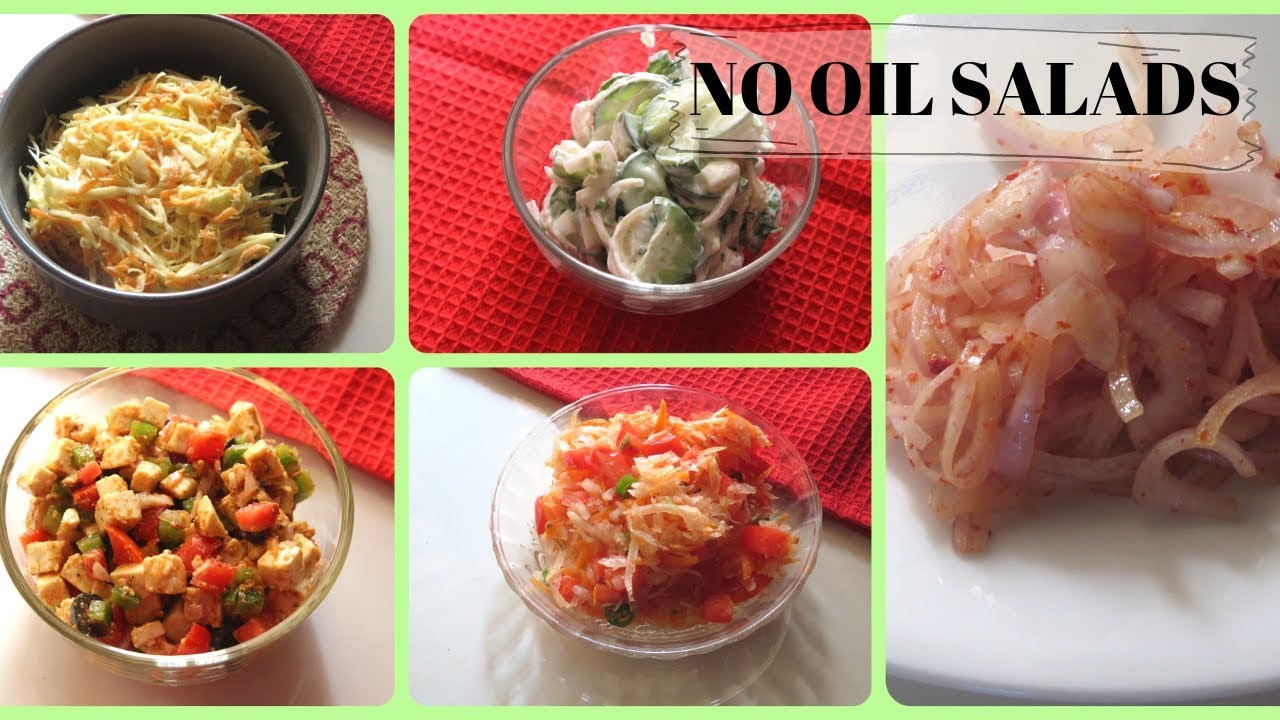 NO FIRE COOKING SALADS FOR THE WHOLE WEEK/WEIGHT LOSS SALAD  RECIPES/Sivakasi Samayal Express 155 - The Vegan Stream - Vegan Recipes and  Videos