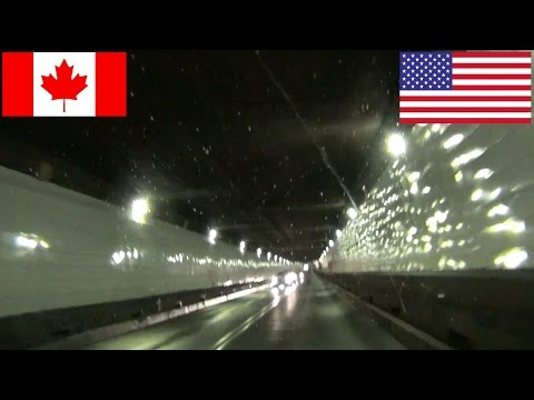 Windsor, Ontario - Detroit Windsor Tunnel & Ambassador Bridge