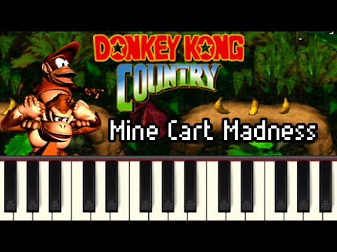 Mine Cart Madness - Donkey Kong Country [Synthesia]