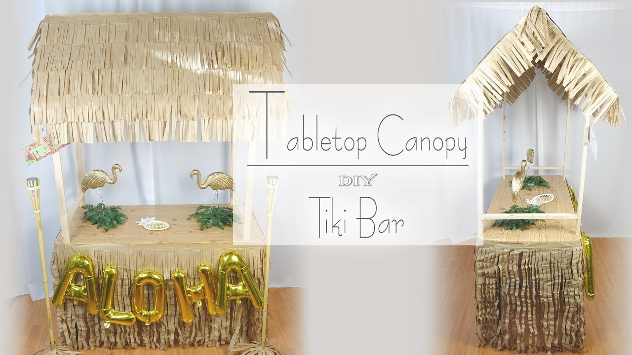 Tabletop Tiki Canopy Diy Tiki Bar Party Decor