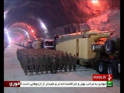 Iran ballistic missiles inside 500 meters underground bunkers پايگاه زيرزميني موشك هاي بالستيك ايران