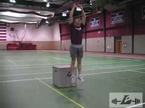 Depth drop into vertical jump - YouTube