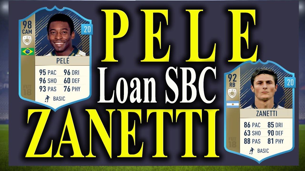 FIFA 18 - PRIME ICON PELE & ZANETTI LOAN SBCs SOLVED - YouTube