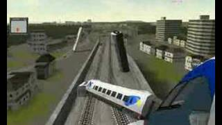 Crashing a Acela Express on Train Simulator