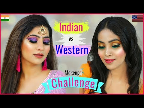 DIWALI Makeup Challenge - INDIAN vs WESTERN | #Spoyl #Sale #Fashion #Anaysa