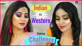 DIWALI Makeup - ETHNIC vs WESTERN .. | #Spoyl #Sale #Challenge #Fashion #Anaysa