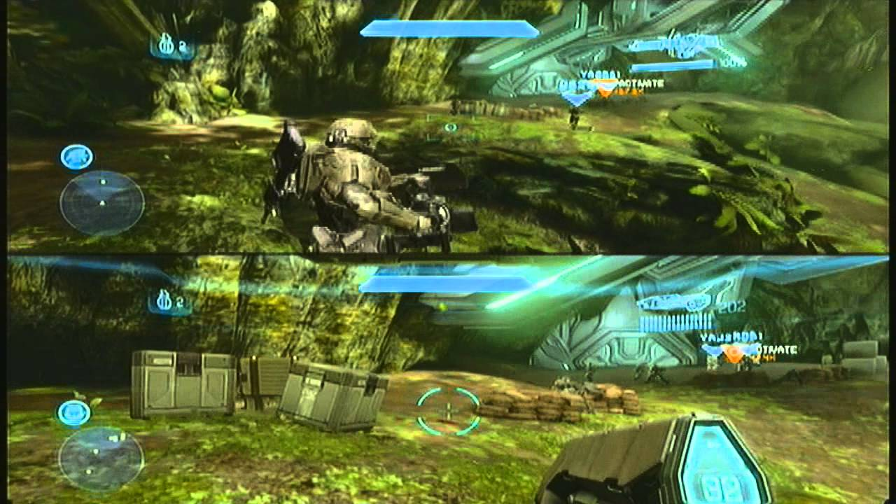 Halo 4 Campaign 4 Player Co op Split Screen Mission 4