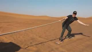 Nissan Super Safari presents Limitless Adventure with Max of Arabia Sandboarding