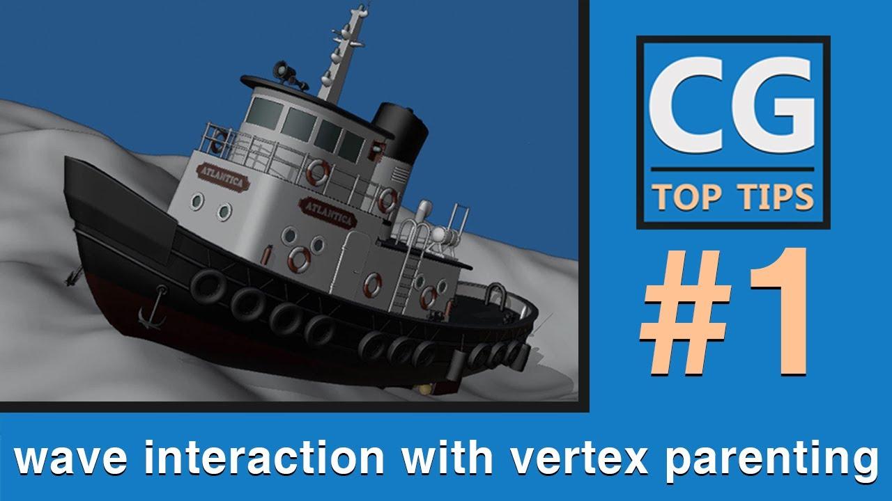 Wave Interaction With Vertex Parenting - Blender 2.8x