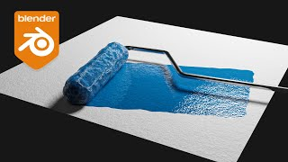 Blender Tutorial - Paint Roller Effect w/ Dynamic Paint