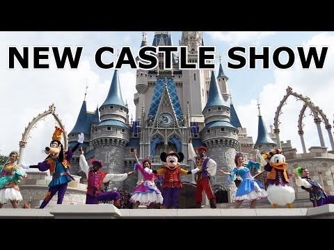 FRONT ROW - Mickey's Royal Friendship Faire  - NEW Castle Show - Magic Kingdom - 60 FPS