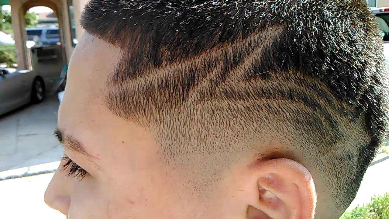 Shooting Star Haircut Design