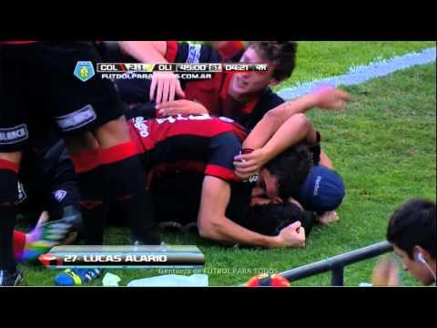 Gol de Alario. Colón 2 - Olimpo 1. Fecha 19. Torneo Final 2014. FPT