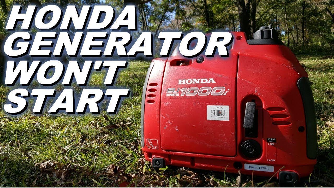 Why Won T My Honda Generator Start Eu1000