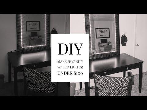DIY MAKEUP VANITY Under $100 - Remote Controlled Makeup Vanity | Pre'Knechia Ja'Nae