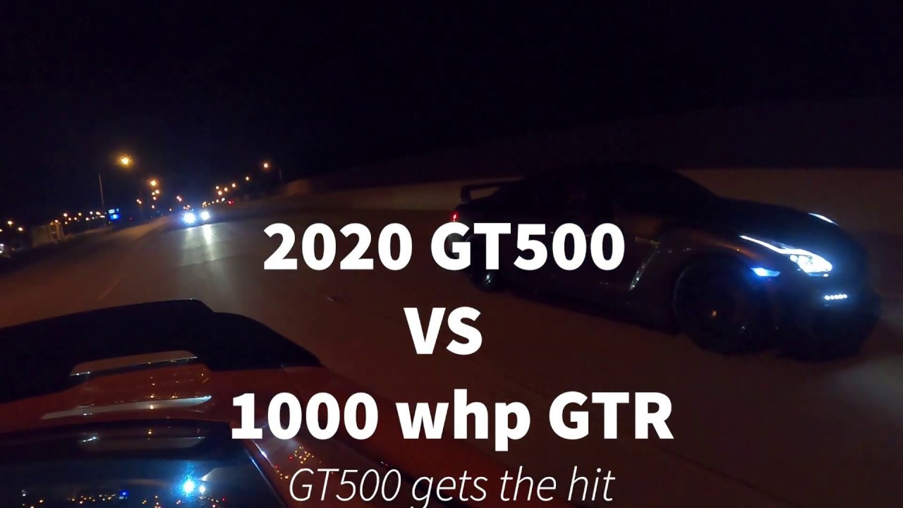 Cocky GTR owner calls out 2020 GT500 1000 hp vs 1000 hp! VS 700 whp roush RS3.