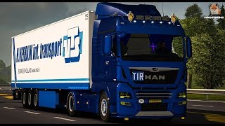 Euro truck simulator 2 Euro 6-man truck v-scannia truck 4 tires