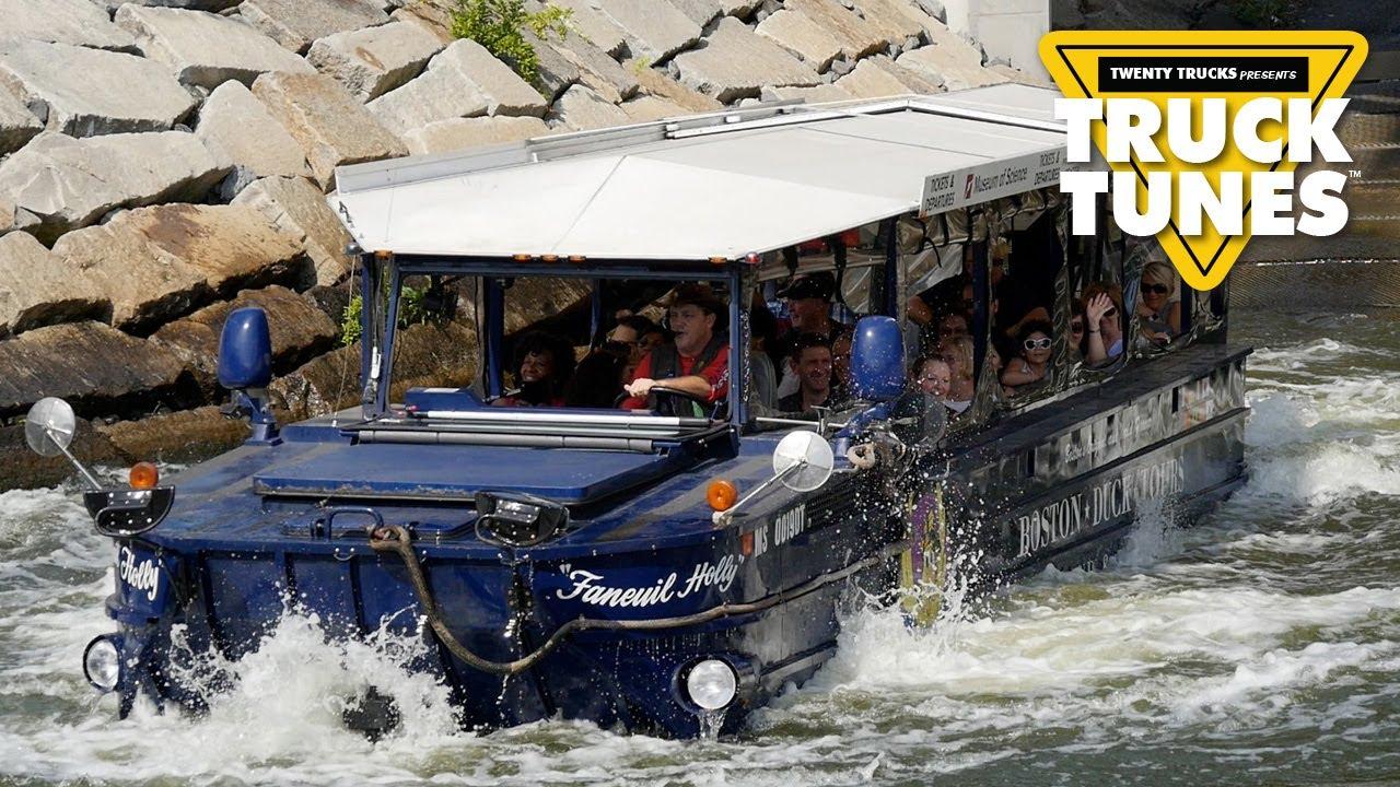 Duck Boat for Children | Kids Truck Video - Amphibious Transport