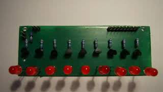 25 LED chaser, with 555 and CD4017 IC's
