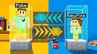 I Transformed Into BABY Poke! (Switching Minecraft DNA)