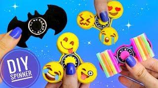 DIY HAZ 3 SPINNERS FÁCILES CASEROS | Emojis, Batman...