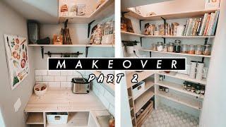 VORRATSKAMMER ROOM MAKEOVER Part 2 - Fliesen legen + DIY Regal selber bauen | EASY ALEX