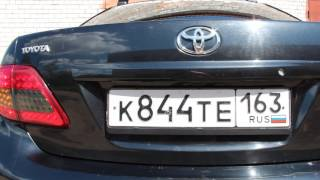 LED задние фонари на Toyota Corolla 150 (LED tail light on Toyota corolla 150).