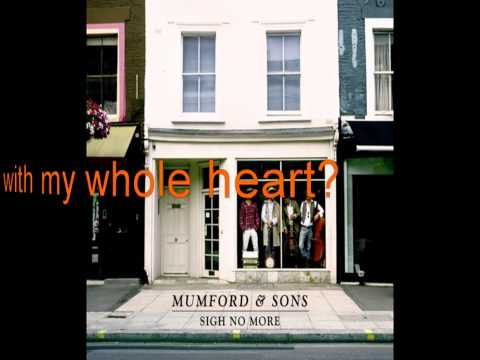 Mumford and Sons - White Black Page (Lyrics) (HQ)