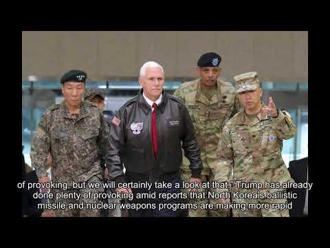 Trump White House debates presidential visit to demilitarized zone along North Korean border