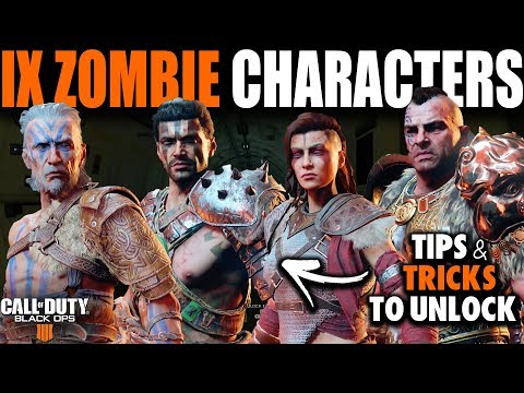 How to Unlock ALL IX ZOMBIE Characters in Black Ops 4 Blackout   Call of Duty