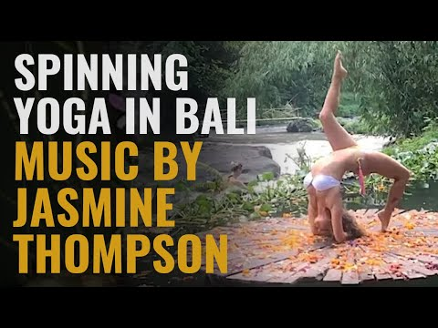 """Spinning yoga in Bali 🌸 Music by Jasmine Thompson """"Adore"""""""