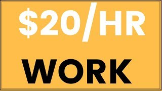 5 Websites To EARN $20 per Hour WORK FROM HOME