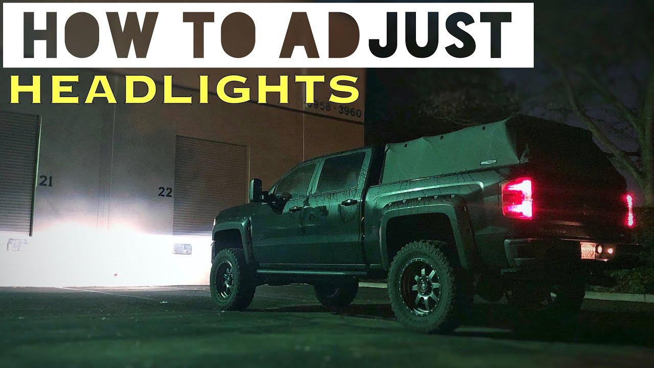 How to Adjust Headlights - 2017 Silverado Z71 1500 - YouTube
