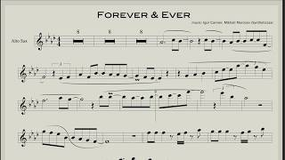 Forever & Ever (Backing track and sheet music for saxophone)