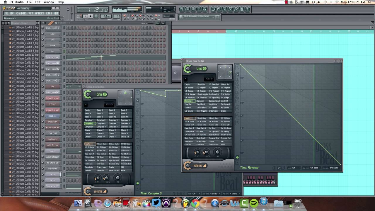 fl studio 12 how to get to gross beat