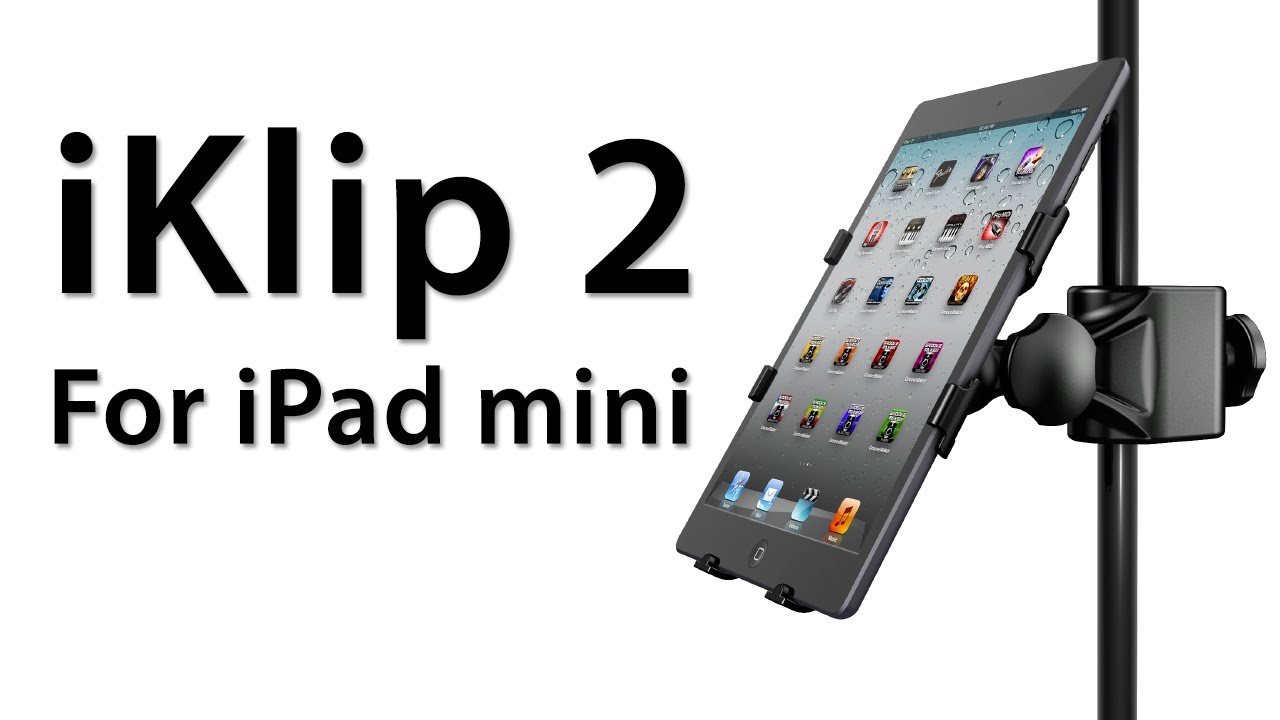 review iklip 2 for ipad mini from ik multimedia ipad microphone stand adapter youtube. Black Bedroom Furniture Sets. Home Design Ideas