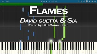 David Guetta & Sia - Flames (Piano Cover) by LittleTranscriber
