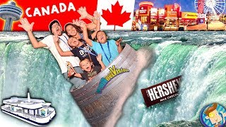 NIAGARA FALLS ON OUR HEAD! Boat Ride & White Water Rapids! Trip to CANADA pt  2 FUNnel Vision Vlog
