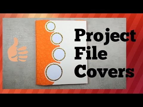Beautiful File Covers L Decorate Project File L Easy File Decoration